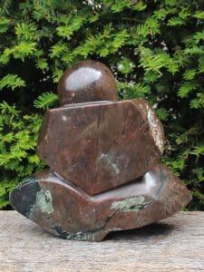 Skulptur Shellbal Kobaltstein