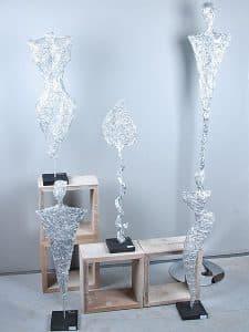 Aluminium Skulptur groß Blatt