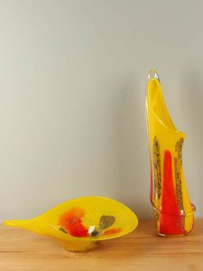 Vase Glas farbig