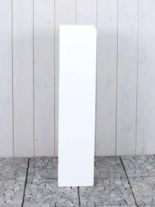 siedenmatt weiß 90*20*20 cm.