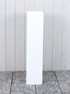 weiß seidenmatt 110*20*20 cm.