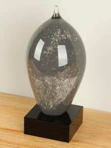 Urne Glas schwarz SCGU-0070