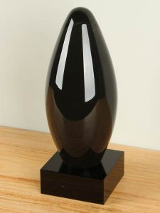 Urne Glas schwarz SCGU-0060