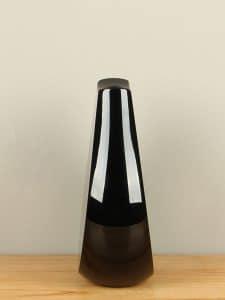 Object Glas rosa/schwarz 22 cm