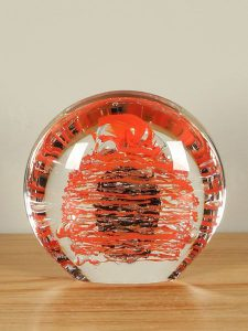Disk Blase rot/schwarz