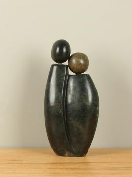 Sculptuur Zimbabwe Two People nr. 2, 30 cm