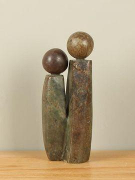 Sculptuur Zimbabwe Two People nr. 3, 28 cm