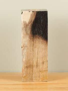 Waxinelicht versteend hout nr. W12