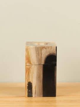 Waxinelicht versteend hout nr. W4