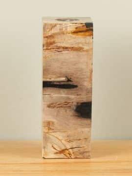 Waxinelicht versteend hout nr. W9