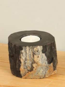 Waxinelichtje versteend hout nr. 26