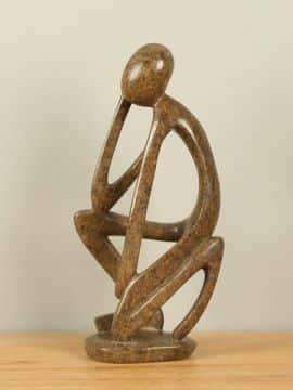 Zimbabwaans beeld Thinker, 36 cm
