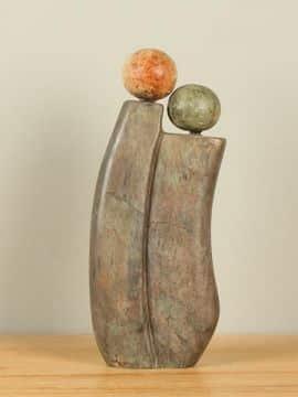 Skulptur Naturstein Love