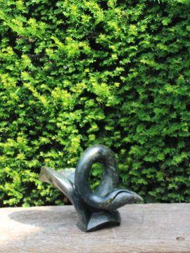 Zimbabwaans sculptuur Bird serpentijnsteen 29 cm