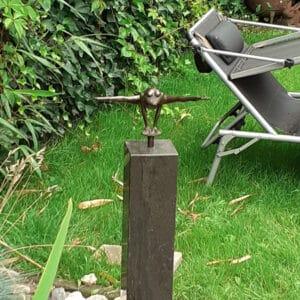 bronzen kikker zwevend
