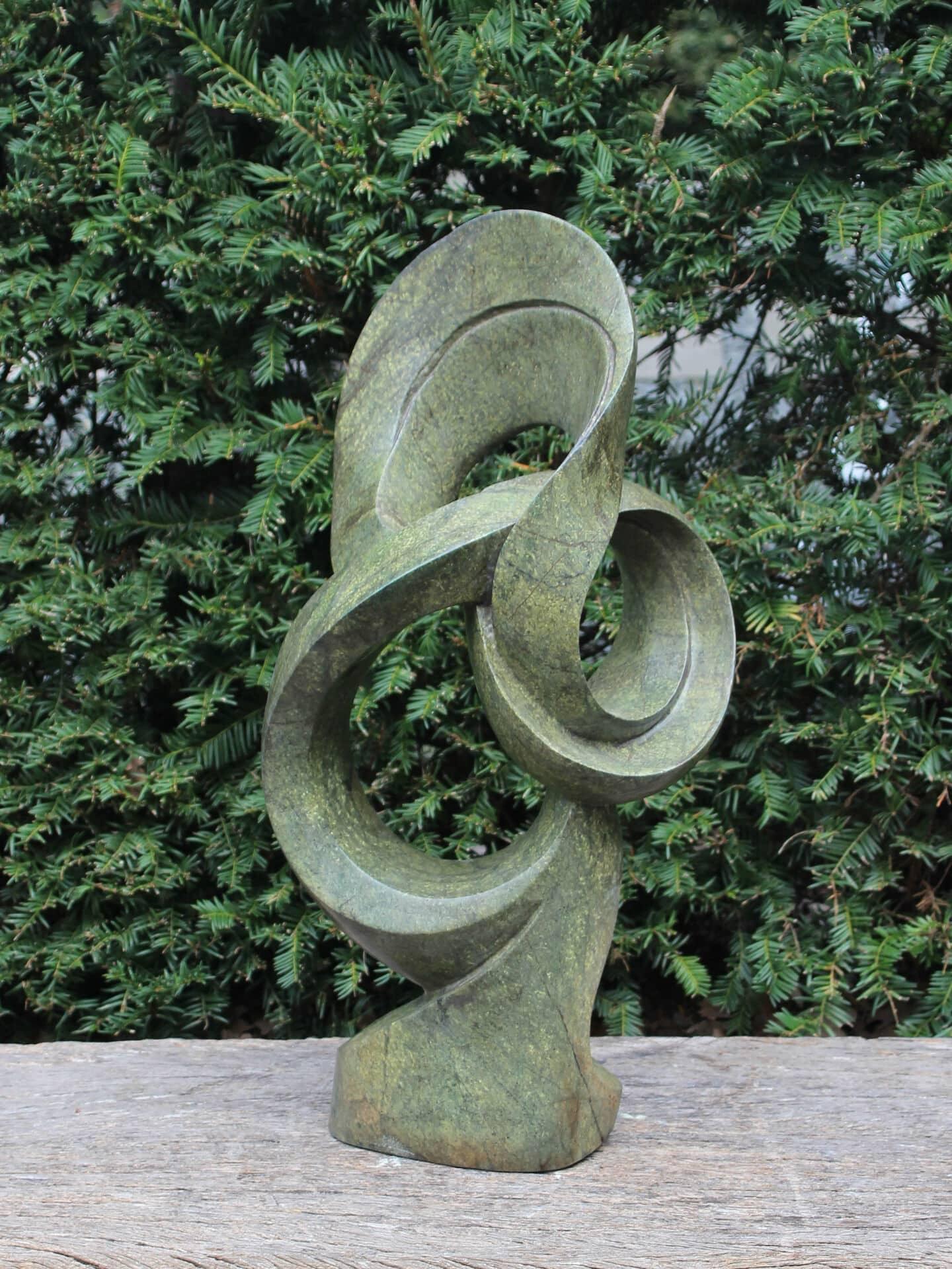 Tuin sculptuur Glorious 58 cm, cheeta jade